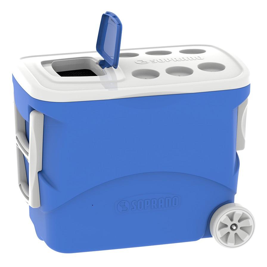 Caixa Termica 500L Tropical com Rodas Azul - Soprano