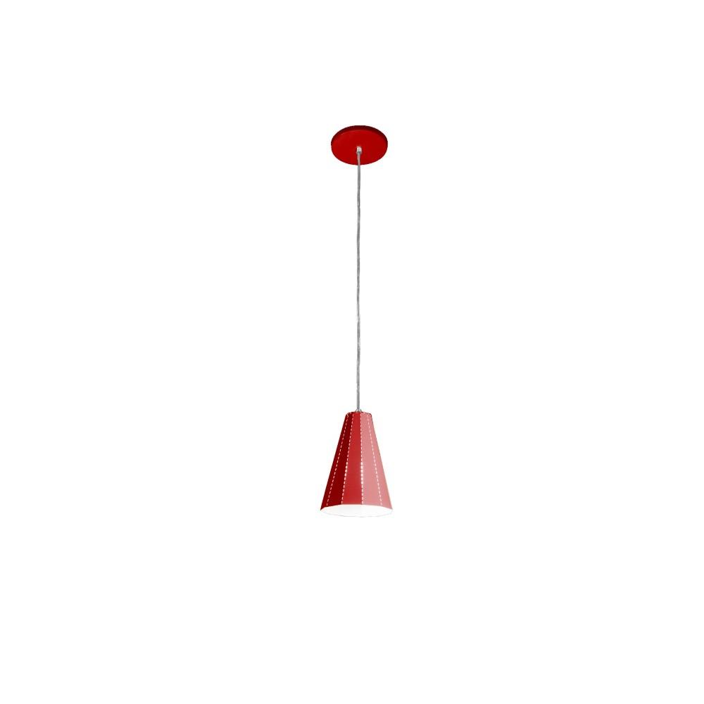 Pendente Vermelho 19 cm 1 Lampada 1753 - Goli