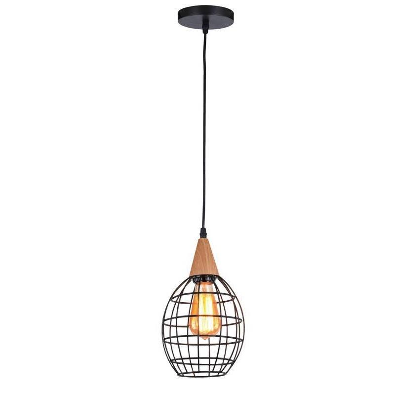Pendente Metal e Madeira 1 Lampada 4108 - Newline