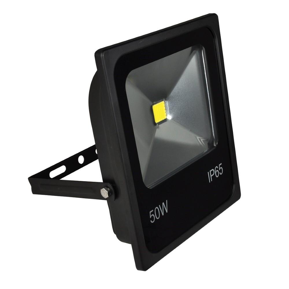 Refletor LED Retangular 50W Luz Verde Autovolt Preto - Ecoline