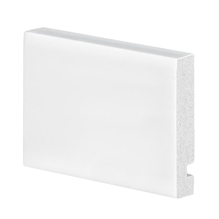 Guarnicao para Portas Poliestireno 225cm x 1300cm x 7cm Arquitech Branca - Arquitech