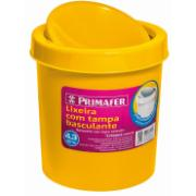 Lixeira para Pia Plástico 4,3L Amarela PR1017 - Primafer