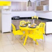 Cadeira Deluxe de Polipropileno Amarela - Forte Plástico