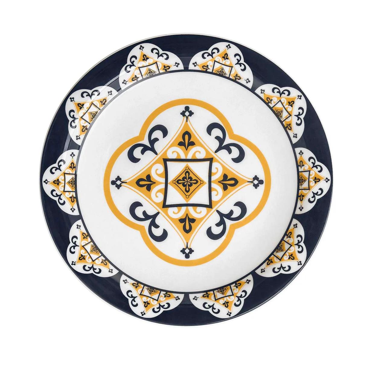 Prato Raso Redondo em Ceramica Sao Luis Branco 26cm - Oxford
