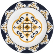 Prato Raso Redondo em Cerâmica São Luis Branco 26cm - Oxford