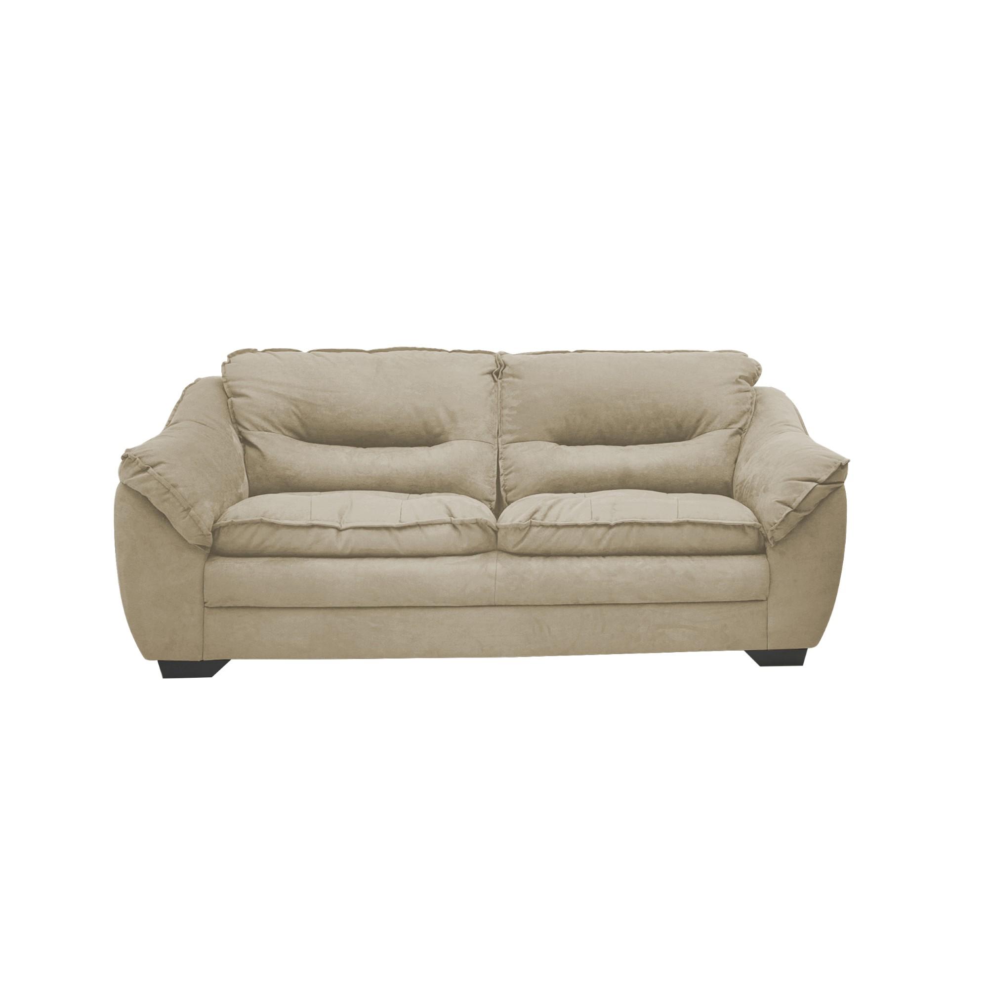 Sofa Floyd 3 Lugares Veludo 210 x 90 x 93 Bege - Spazzio