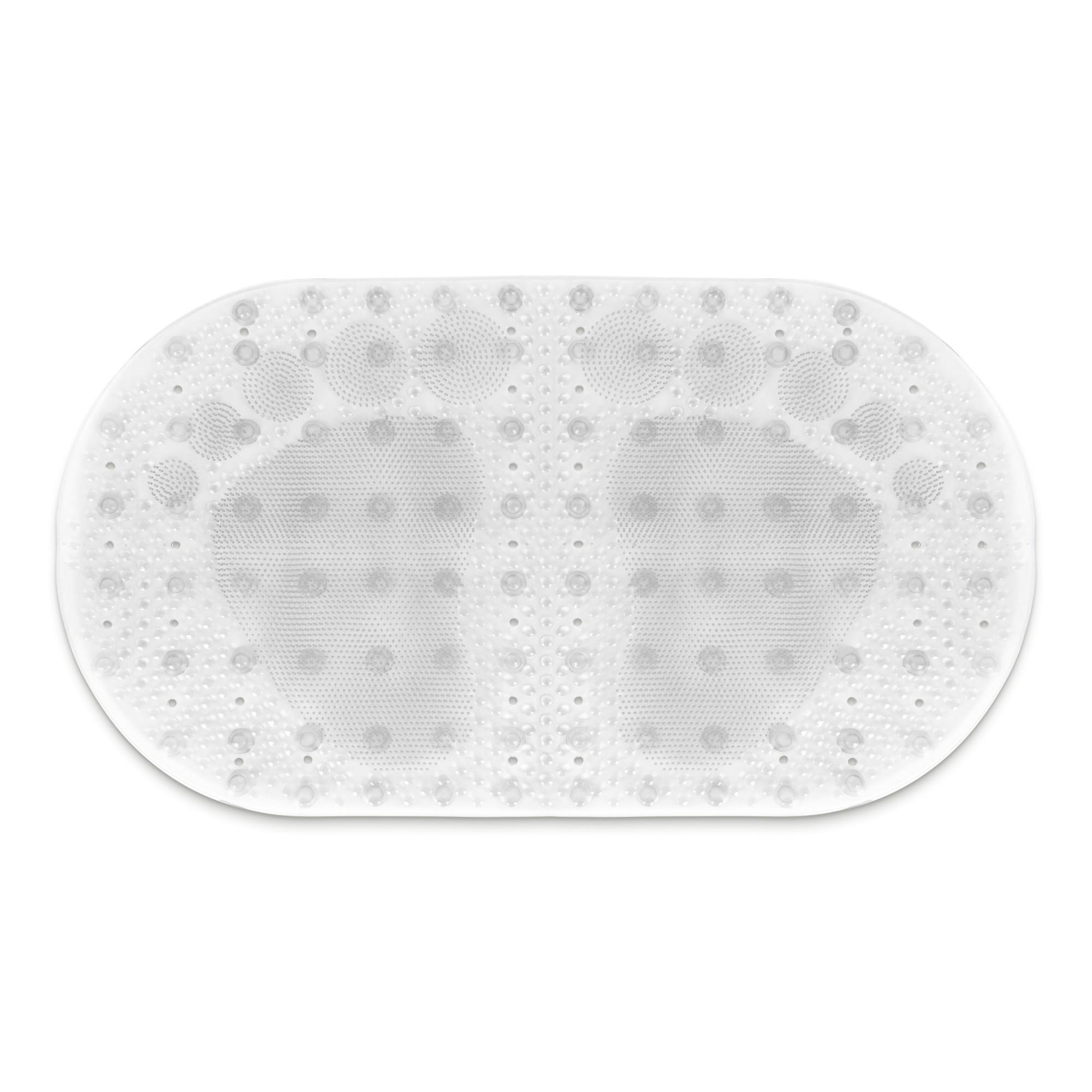 Tapete de Banheiro de PVC 69x39cm Transparente - Bianchini