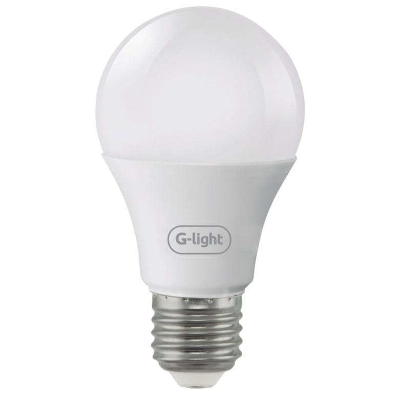 Lampada LED Bulbo A55 4W Luz Amarela E27 Autovolt - Glight