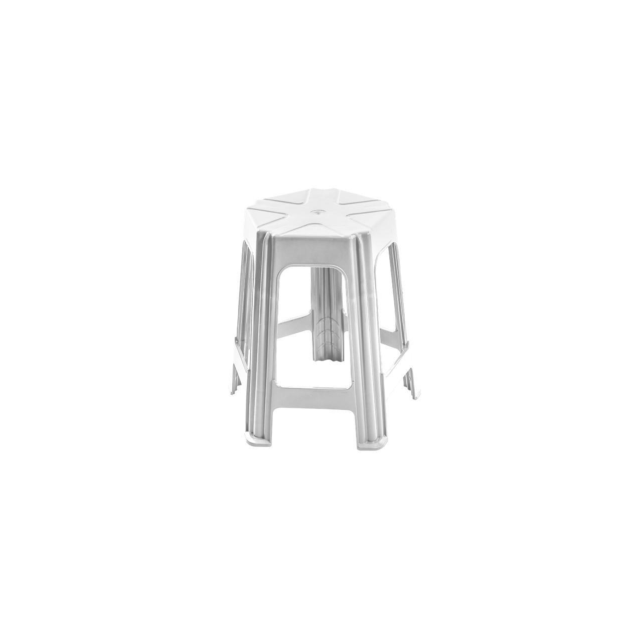 Banqueta Media 46cm Branca - Forte Plastico