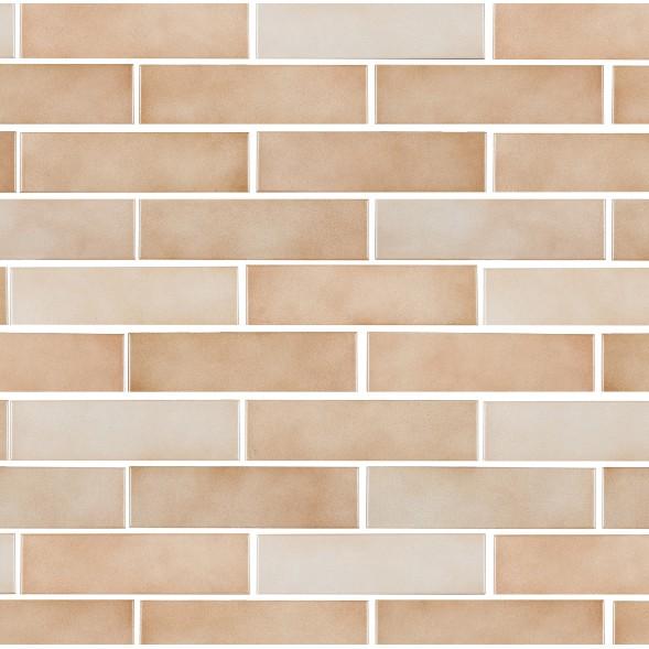 Ceramica Brick Bege Tipo A 7x26cm 092m Marrom Claro - Portobello