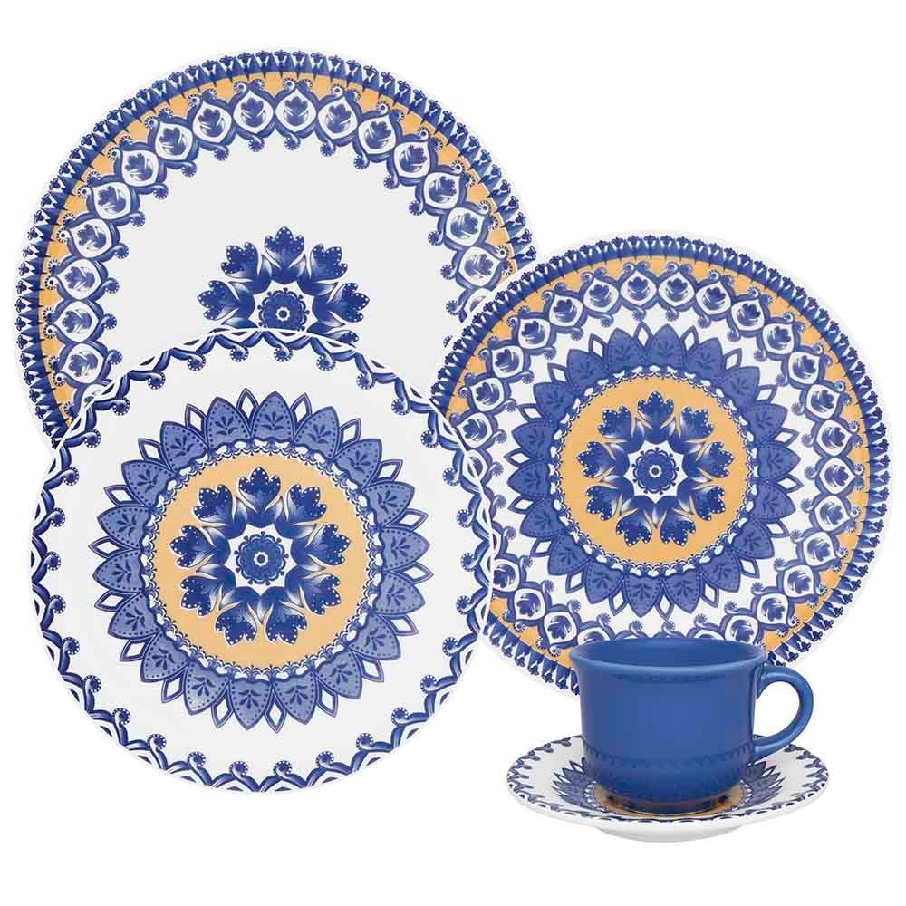 Aparelho de Jantar La Carreta de Ceramica 20 Pecas - Oxford