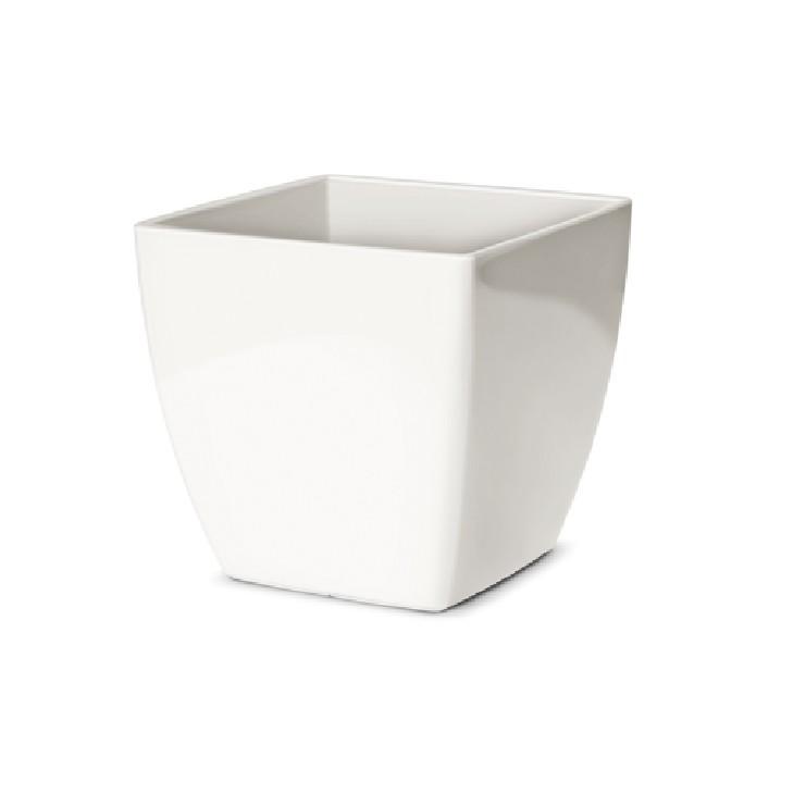 Cachepot Elegance Quadrada 1340x1370 cm Branco - Nutriplan