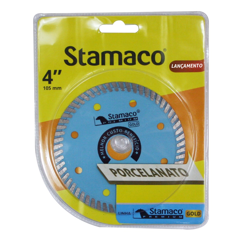 Disco de Corte Diamantado Turbo 105 x 12 x 2000mm - Stamaco