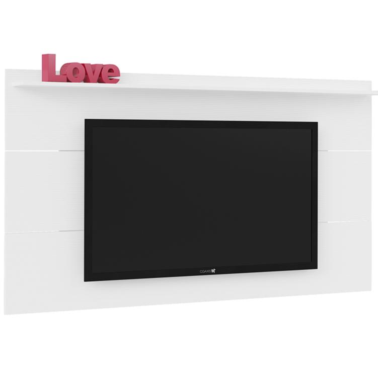 Painel para TV Slim 180cm x 98cm Branco - Artely