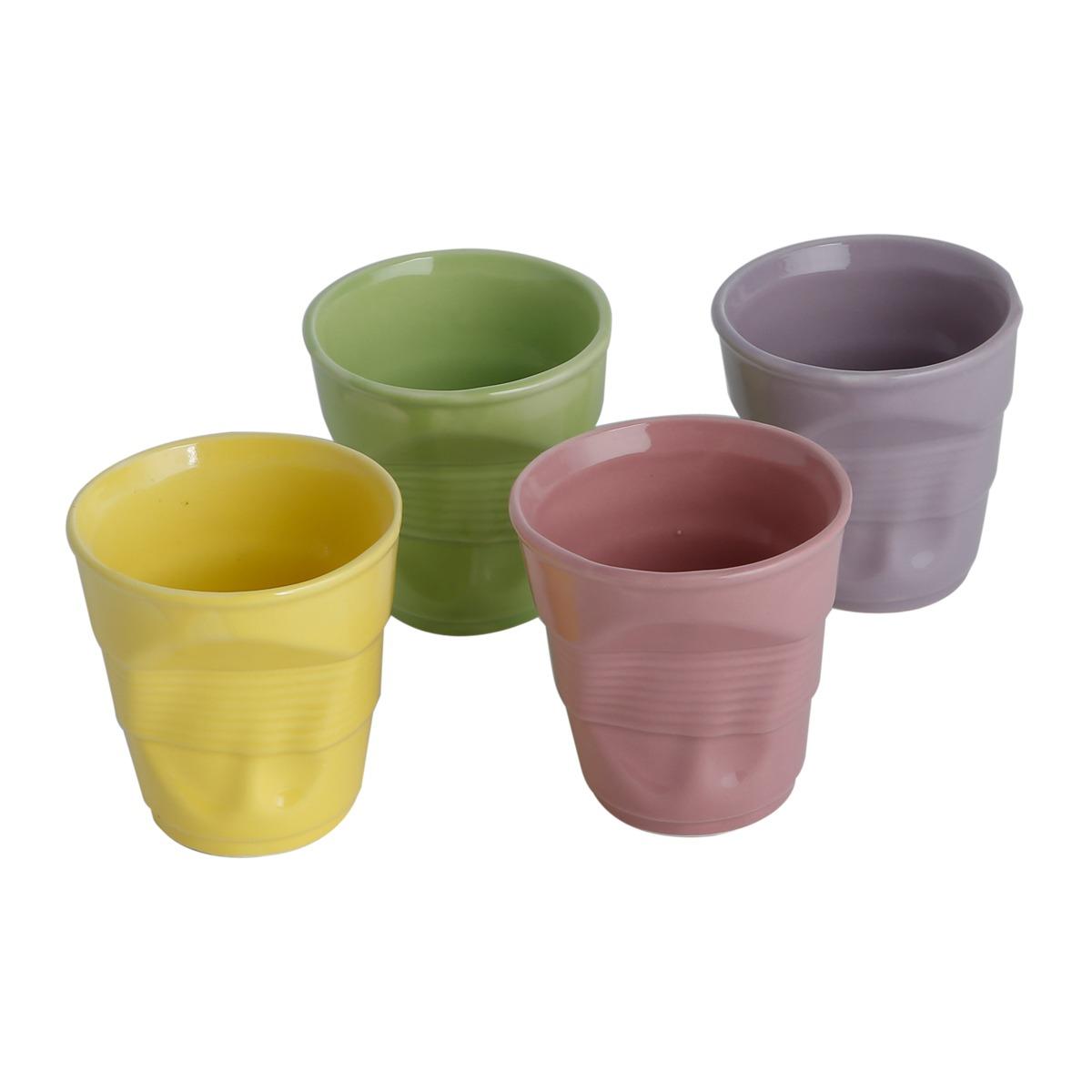 Jogo de Copos de Porcelana para Agua 300ml 4 Pecas 1101 - Rojemac