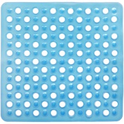 Tapete de Banheiro de PVC 54x54 cm Azul - Bianchini