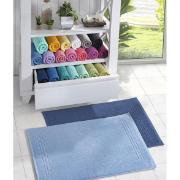 Toalha de Piso Santista Cedro 45x70 cm 100% algodão Felpuda - Azul Marinho