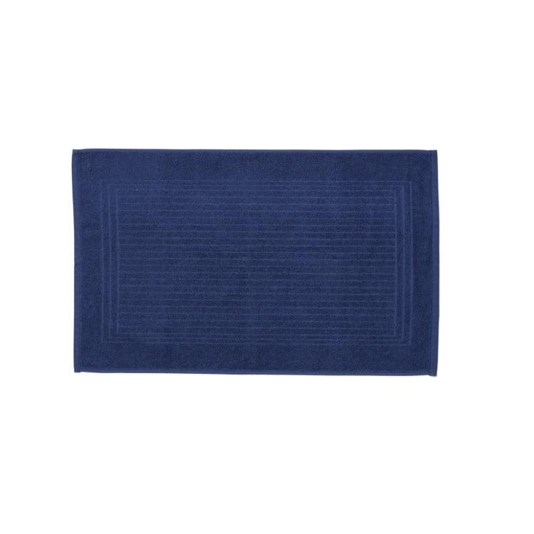 Toalha de Piso Santista Cedro 45x70 cm 100 algodao Felpuda - Azul Marinho