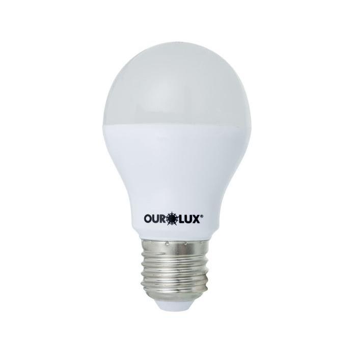 Lampada LED Bulbo A60 6W Luz Branca E27 Bivolt - Ourolux