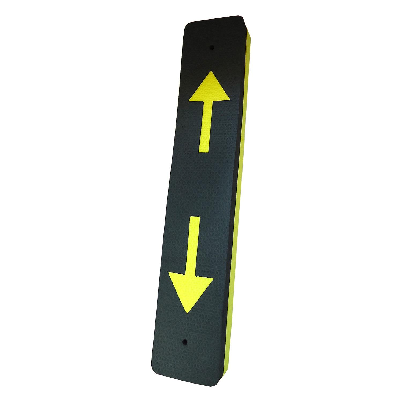 Redutor de Impacto Para-choque para Parede Preto e Amarelo - Fixtil