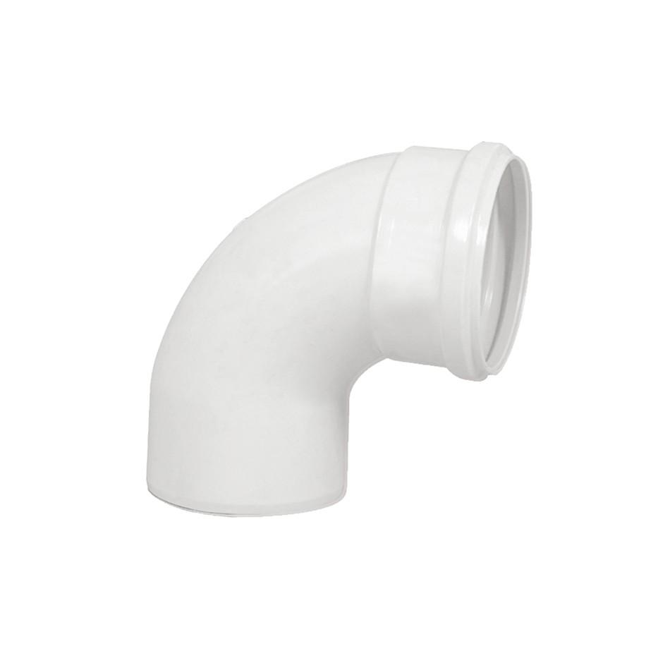 Curva Curto 90 PVC Branco 100 mm - Krona