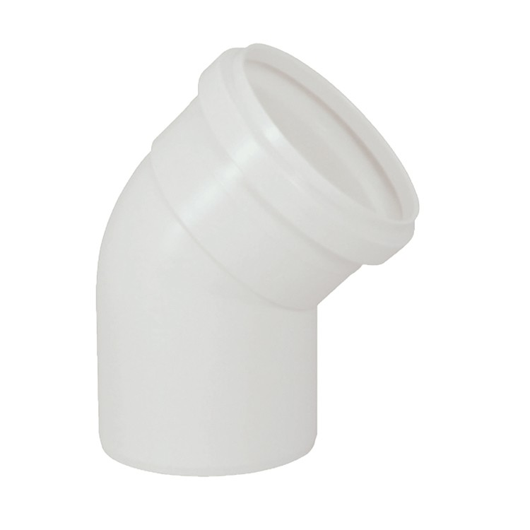 Joelho 45 PVC Branco 100 mm - Krona