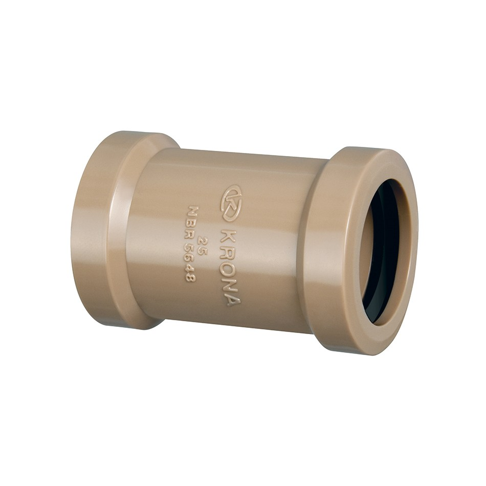 Luva de Correr Soldavel PVC Marrom 25 mm - Krona