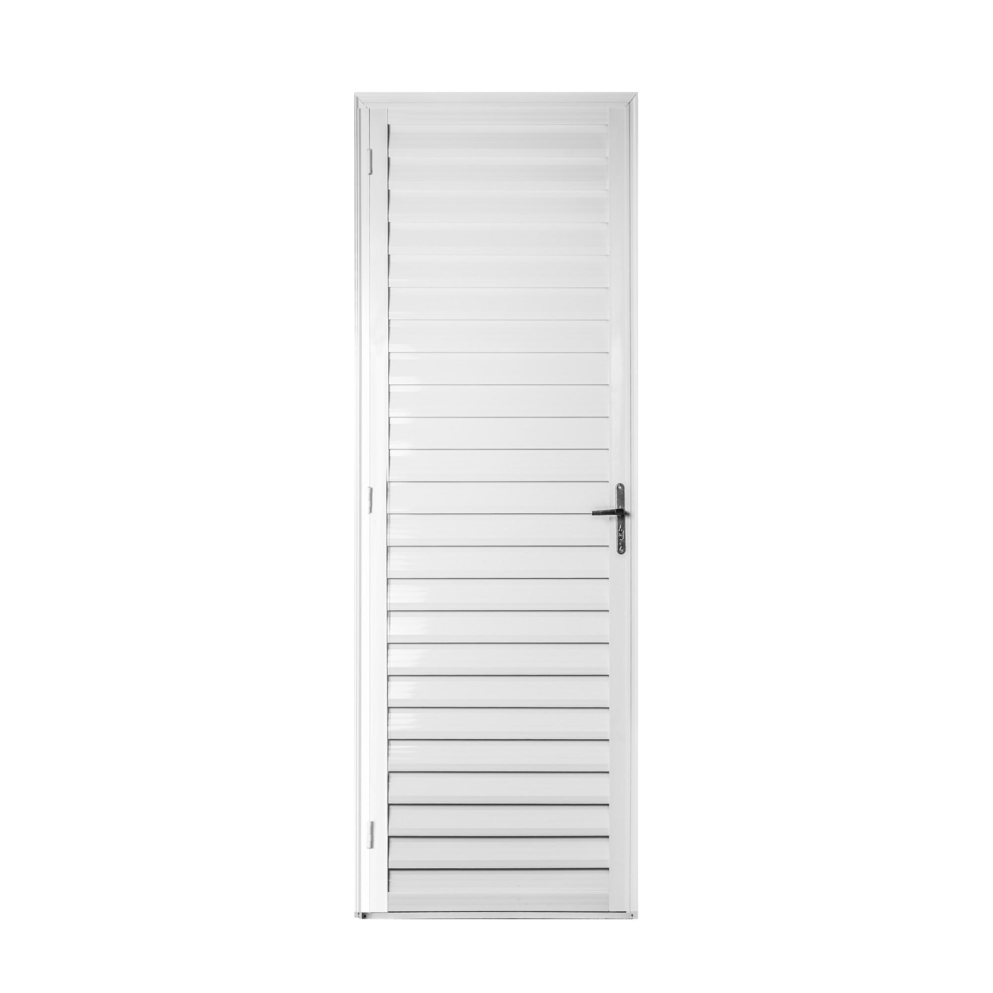 Porta de Abrir de Aluminio 210 x 70 cm Lado Direito - 911550 - Aluvid
