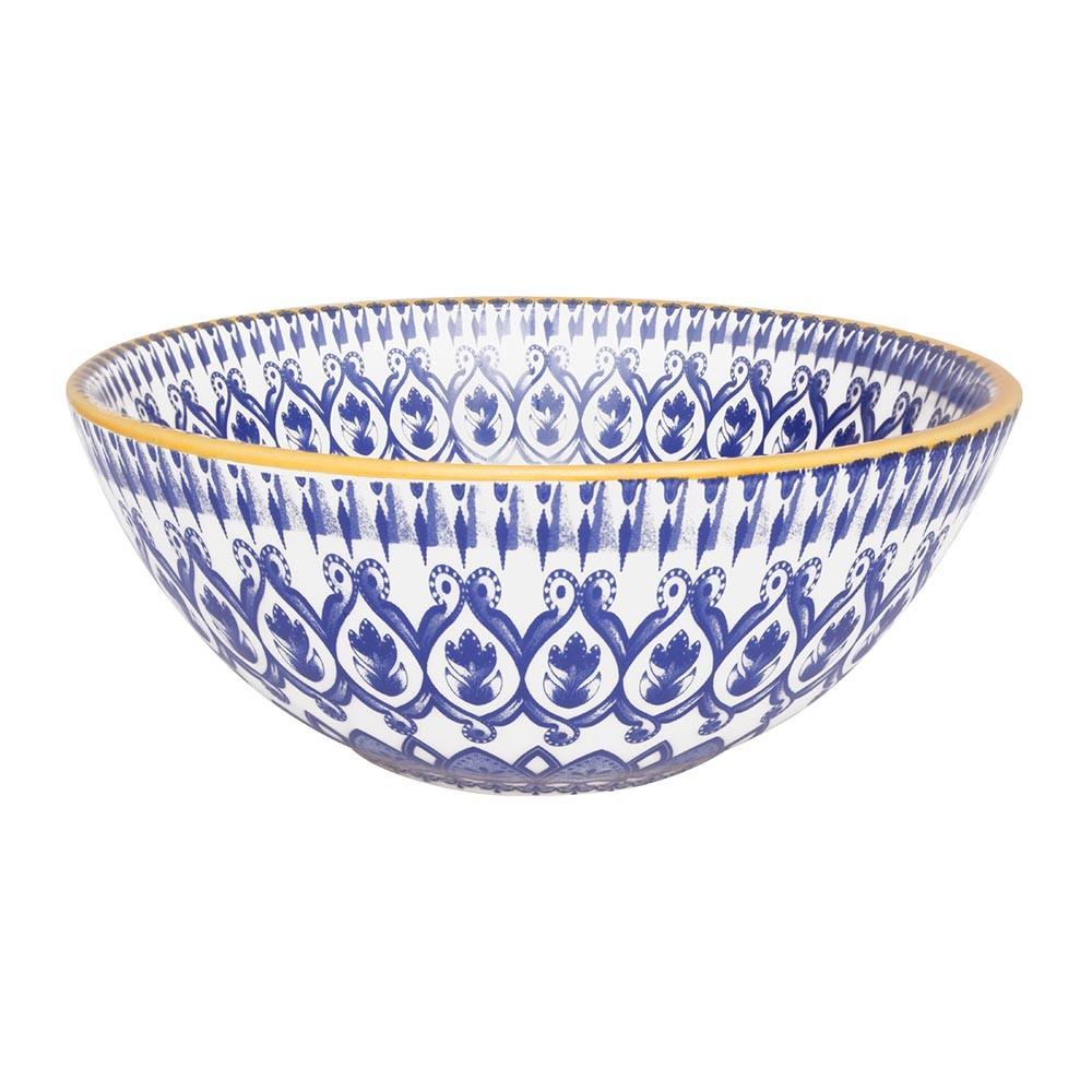 Tigela Funda de Ceramica Redonda La Carreta 600ml Azul - Oxford