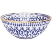 Tigela Funda de Cerâmica Redonda La Carreta 600ml Azul - Oxford