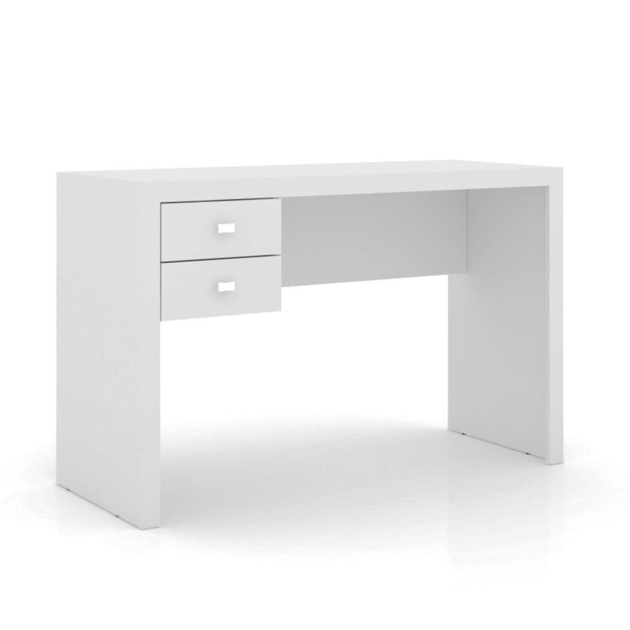 Mesa Para Escritorio 117cm com 2 Gavetas Branca - Tecnomobili