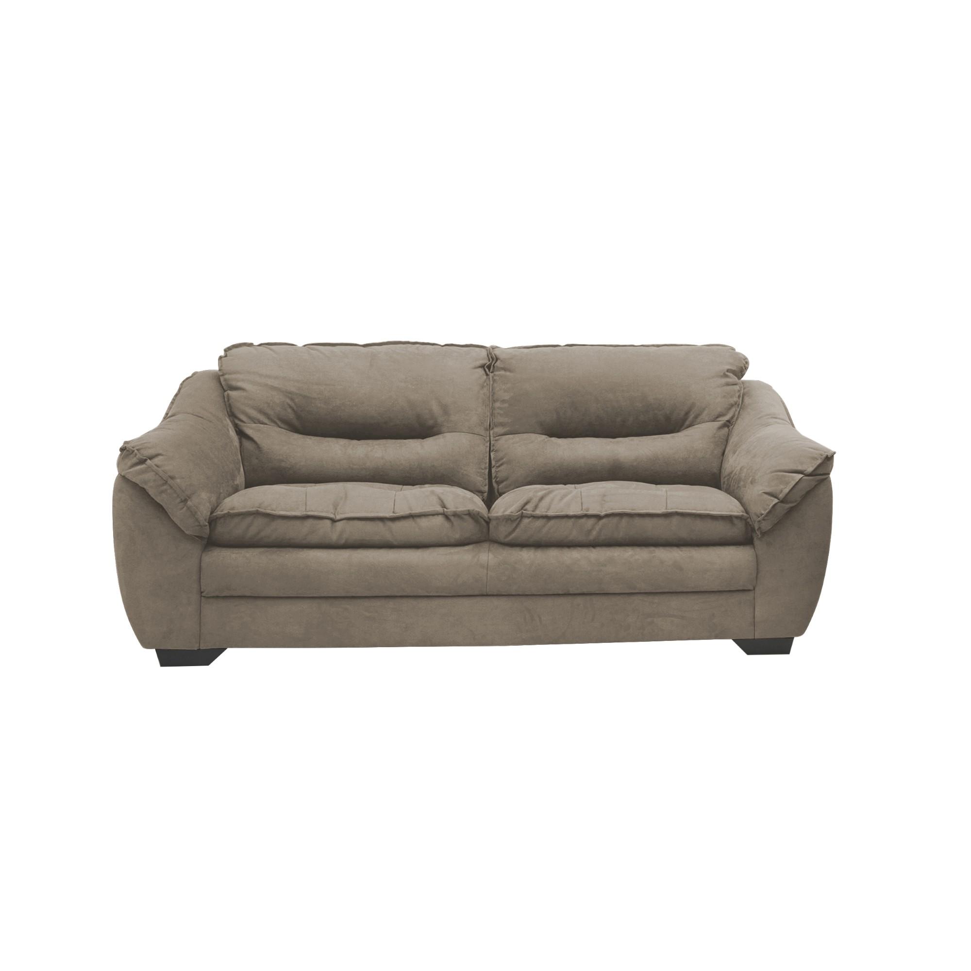 Sofa Floyd 3 Lugares Veludo 210 cm Marrom - Spazzio