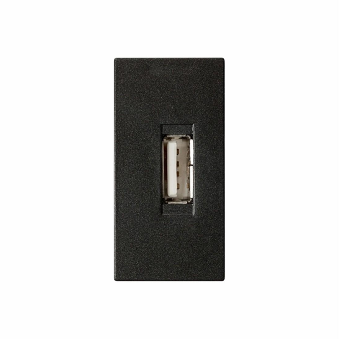 Modulo de Tomada para Carregador USB 5TG99353 Carbono Vivace Bivolt - Iriel