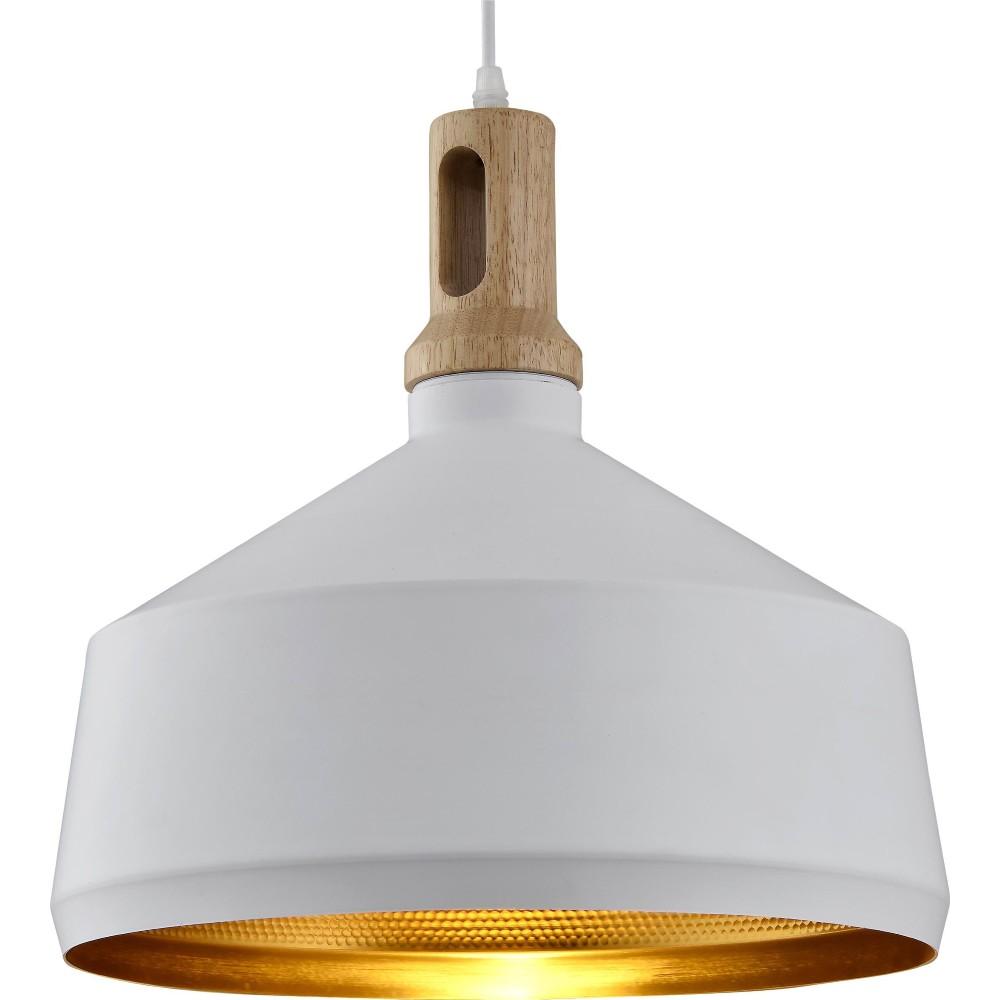 Pendente Aluminio e Madeira 1 Lampada Dourado 13B - Ecoline