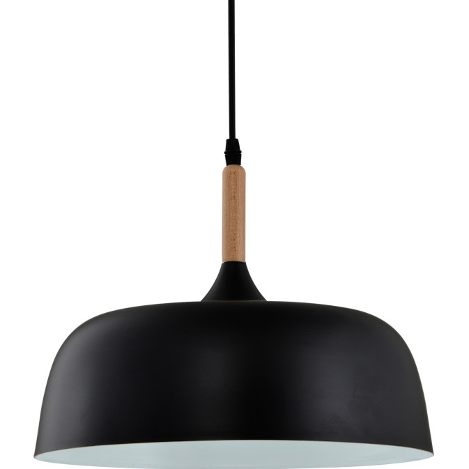 Pendente Aluminio e Madeira 1 Lampada 32cm - Ecoline