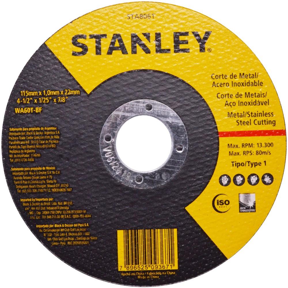 Disco de Corte para Aco Inox e Metal Fino 412 - Stanley