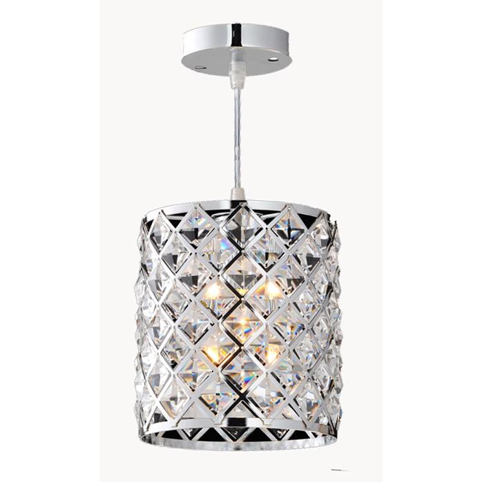 Lustre Aco e Cristal Clear 1 Lampada - Ecoline