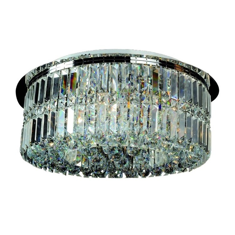 Lustre Aco e Cristal Linbon 6 Lampadas - Ecoline