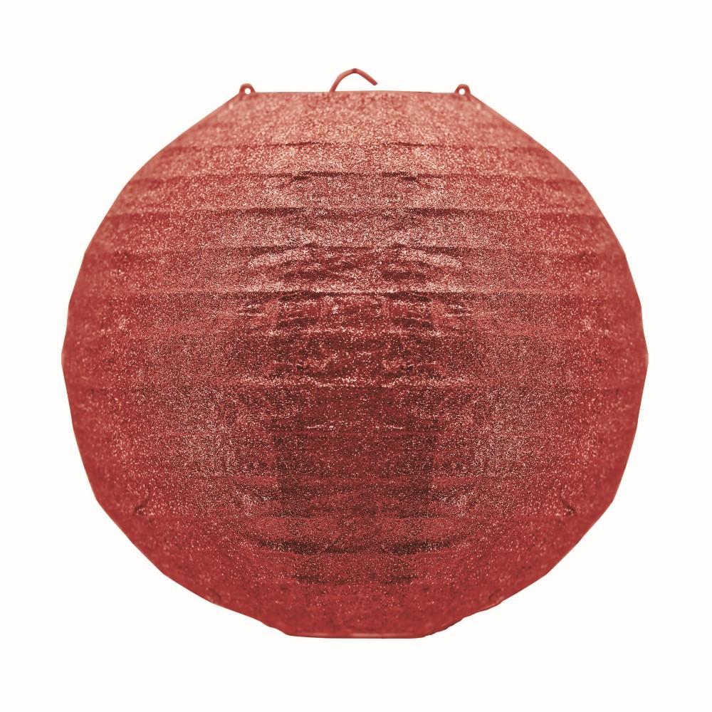 Enfeite Lanterna de Natal 30 cm Vermelho - 17999 - Yangzi