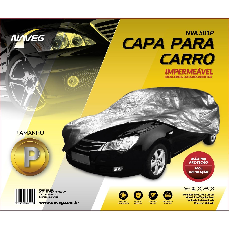 Capa Protetora para Carro Tamanho P 165 x 405m - Naveg