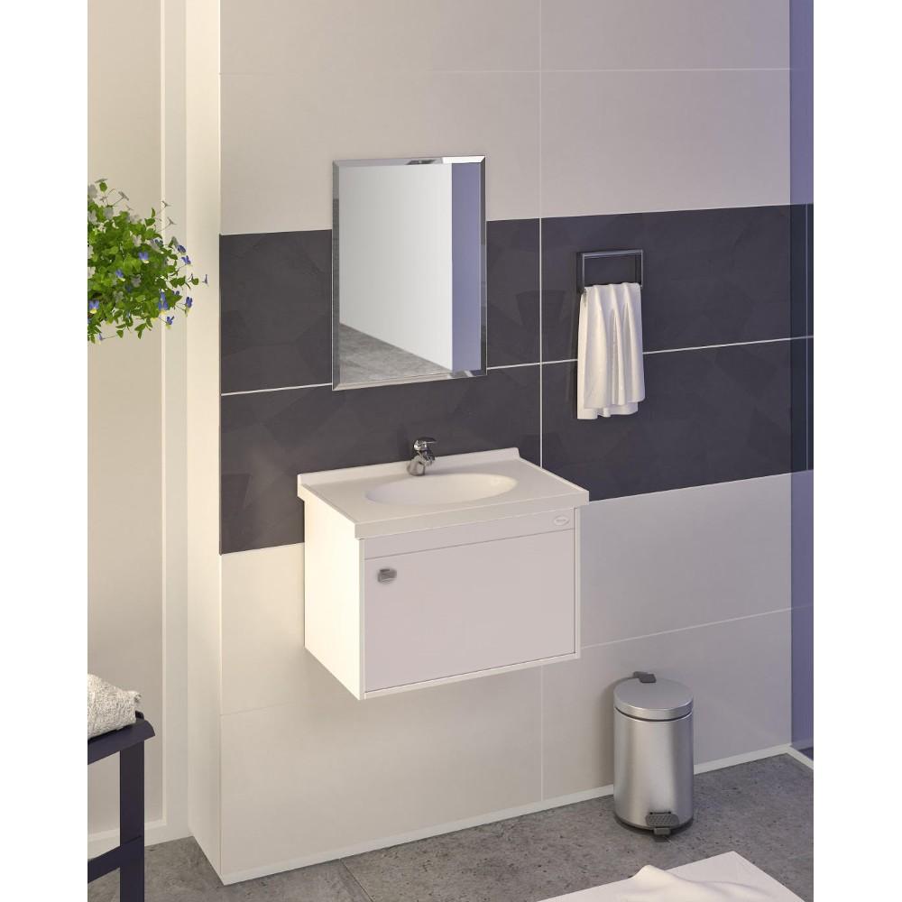 Gabinete para Banheiro Fosco 325x565cm Branco 16687 - Policlass