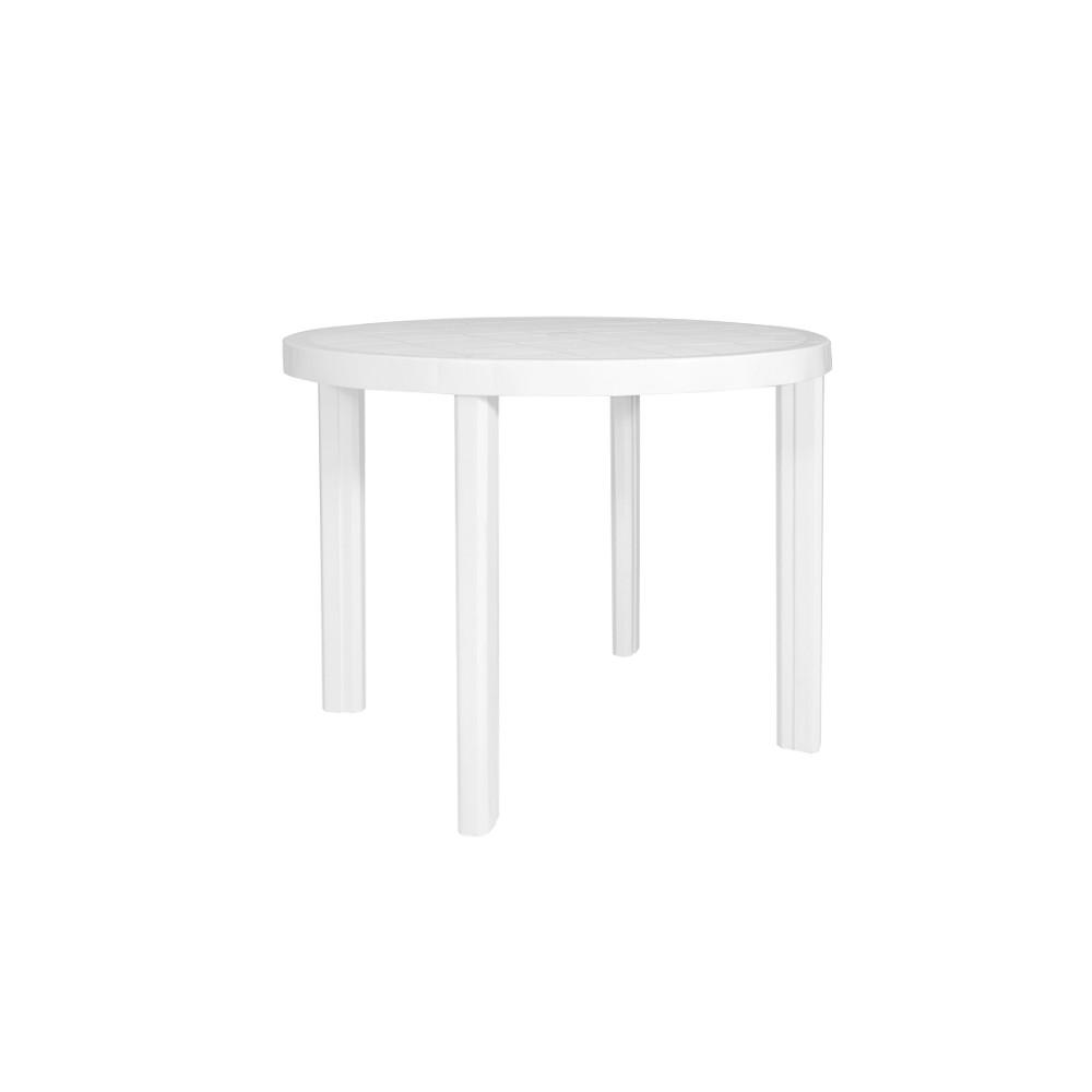 Mesa de Plastico Redonda 90 x 90 cm Branca Guinea - Garden Life