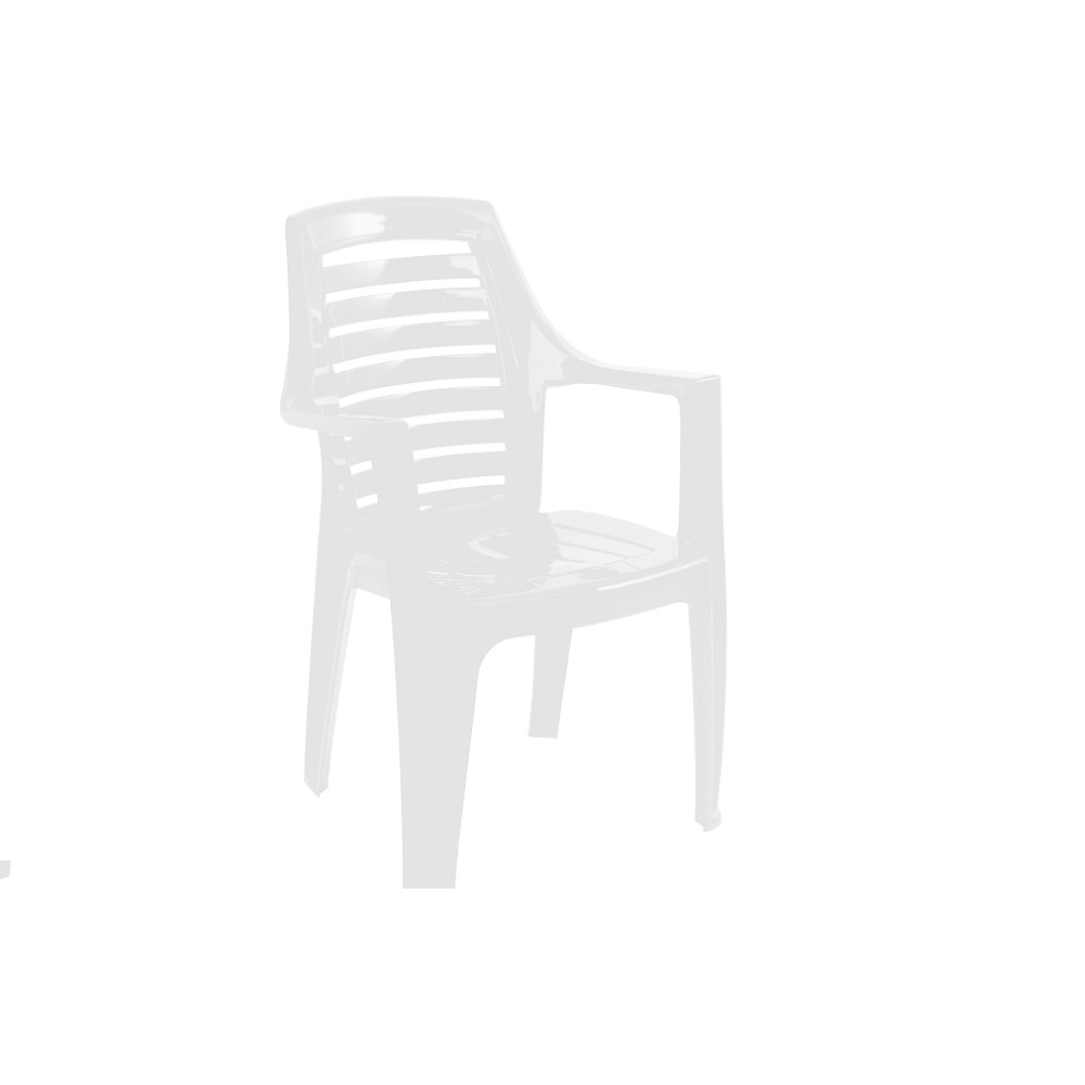 Poltrona de Plastico Marbella Branca - Garden Life