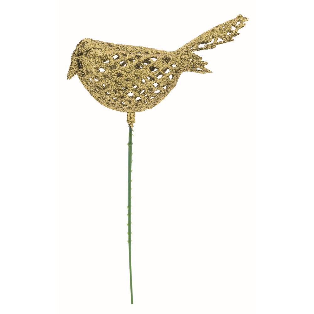 Pick Natalino Passaro 17 cm Dourado - 18170 - Magizi