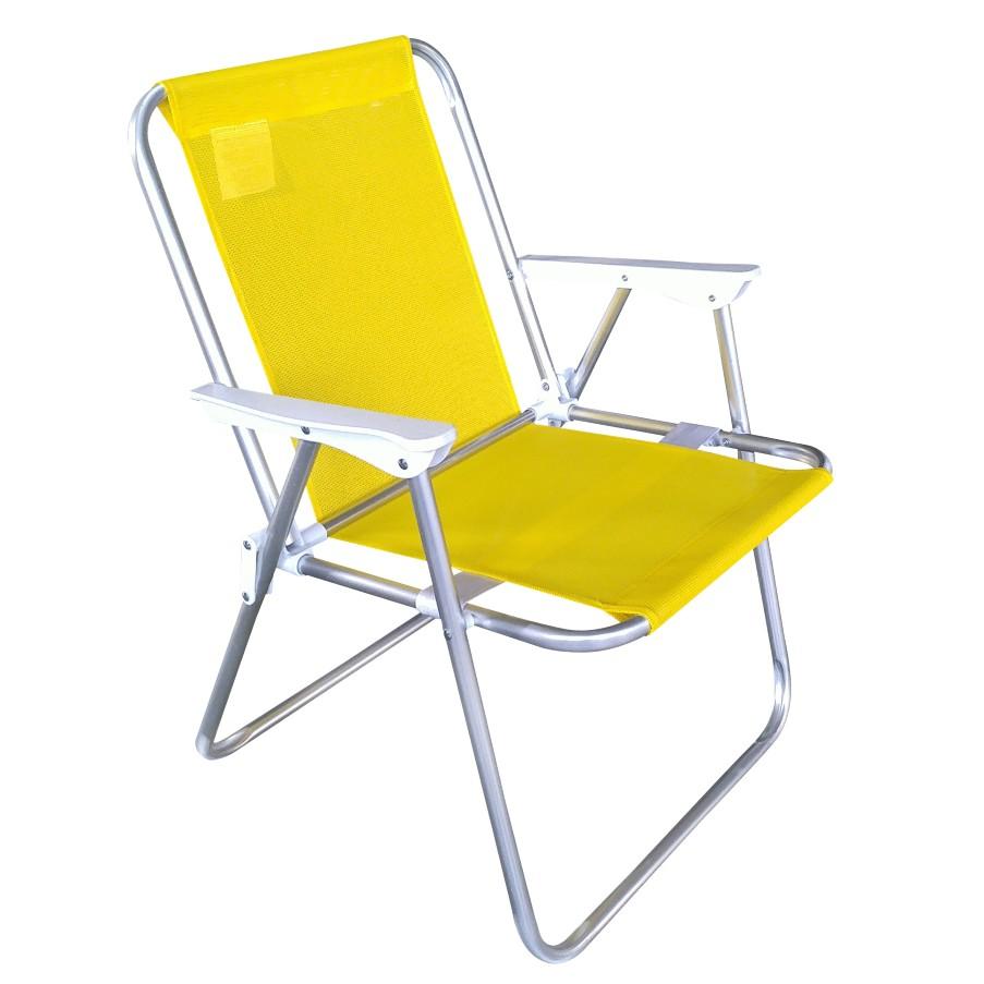Cadeira de Praia Aluminio Amarelo - Bianchini