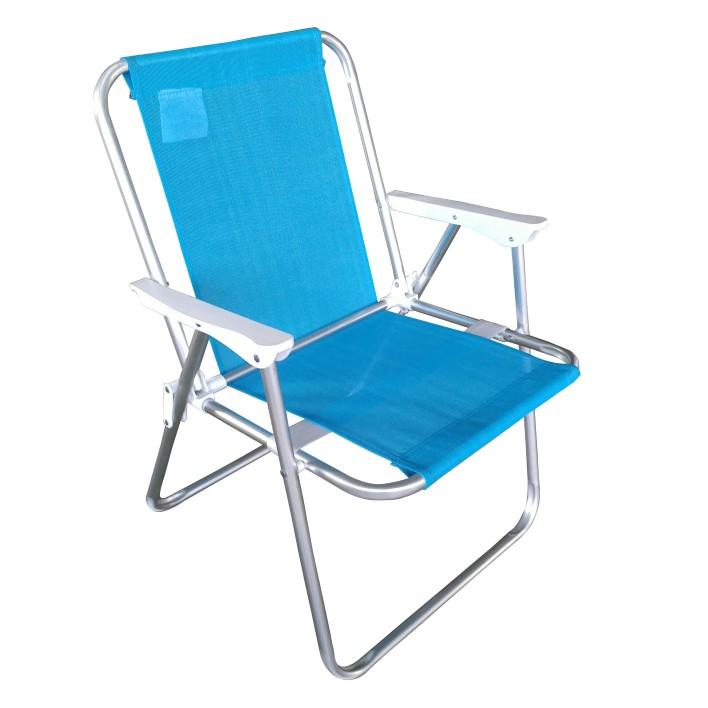 Cadeira de Praia Aluminio Azul - Bianchini