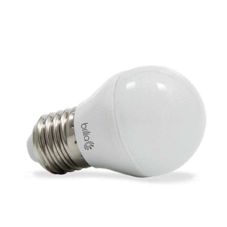 Lampada LED Globo 3W Luz Amarela E27 Bivolt - Brilia
