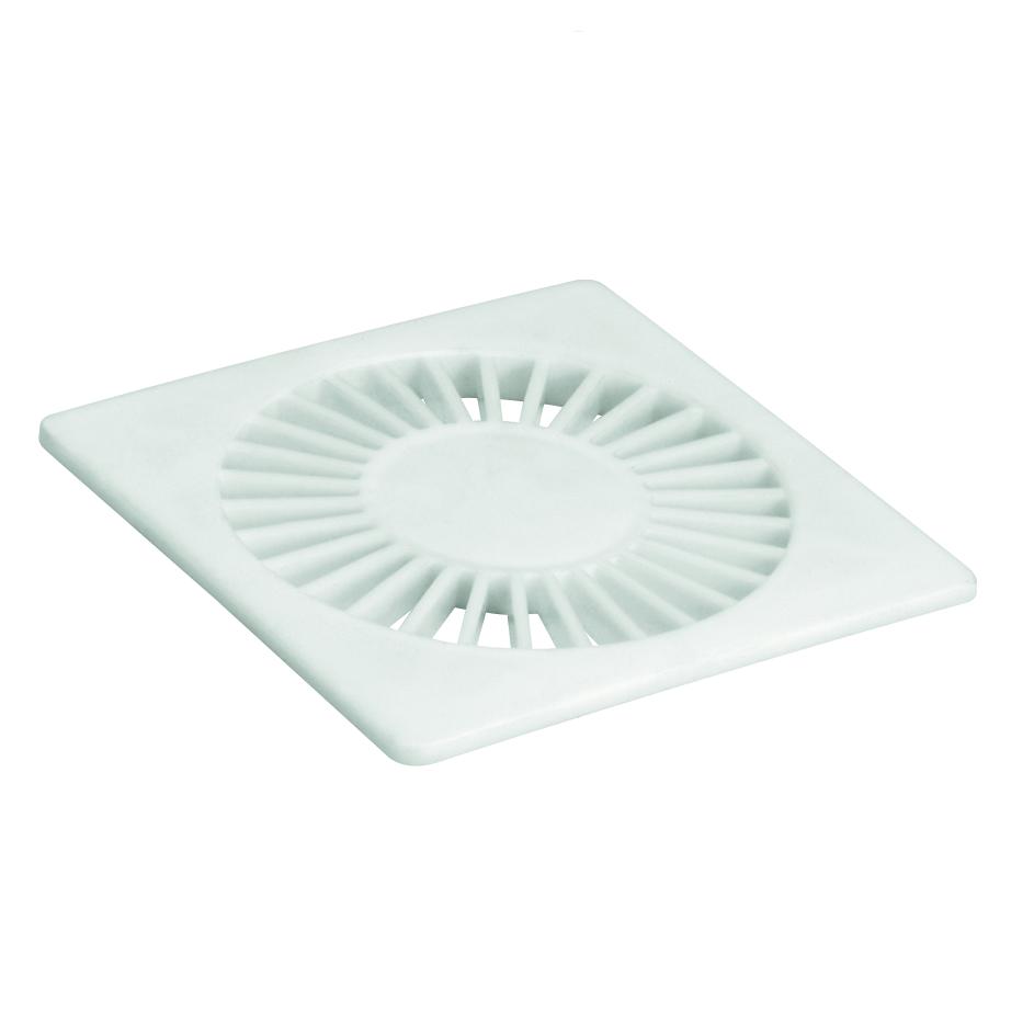 Grelha de Plastico Quadrada para Esgoto Branca 100mm 11950 - Amanco