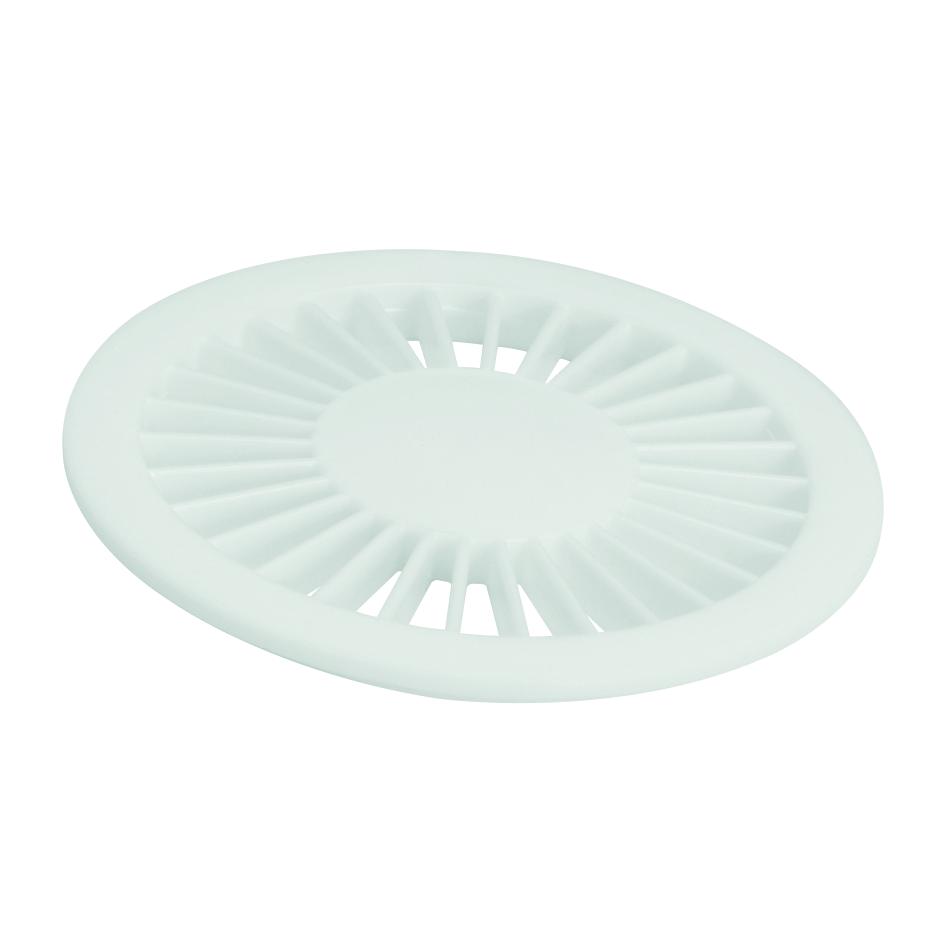 Grelha de Plastico Redonda para Esgoto Branca 100mm 12313 - Amanco