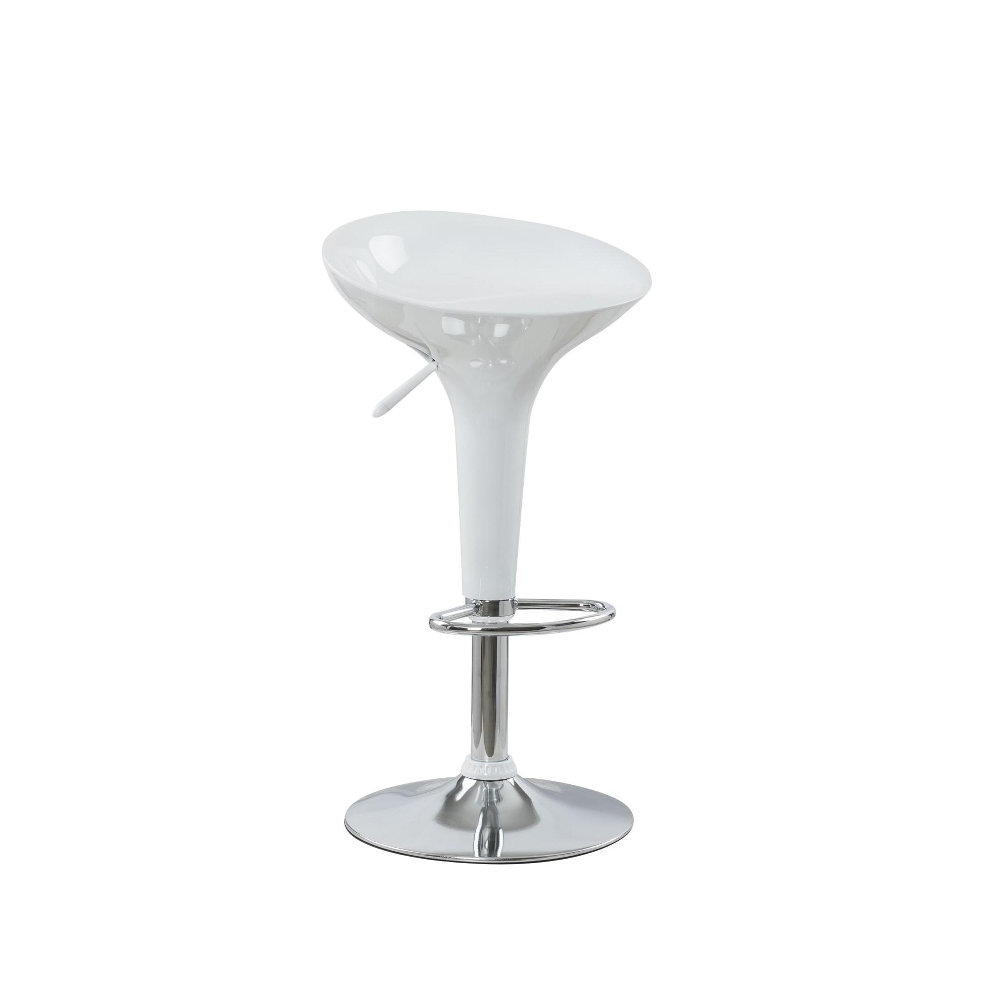 Banqueta Redonda Giratoria de Plastico ABS 67cm Branco FS-101 - Bianchini